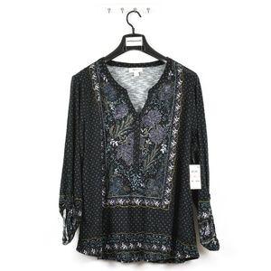 Style & Co. Women's Plus Size Floral Print Blouse
